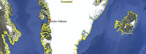 Le glacier au Groenland
