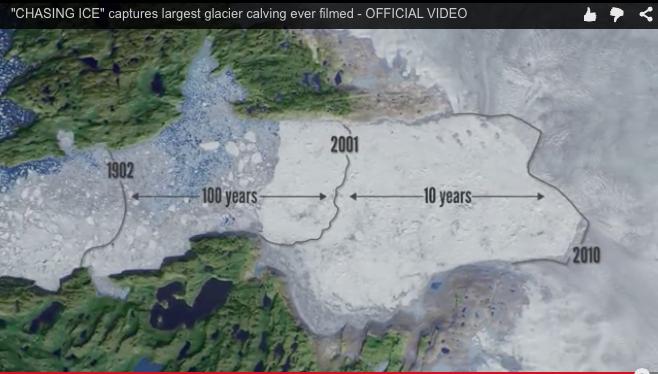 Le retrait du glacier