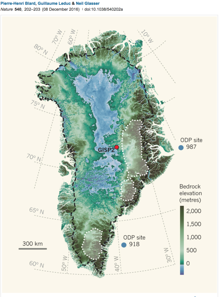 Greenland's map
